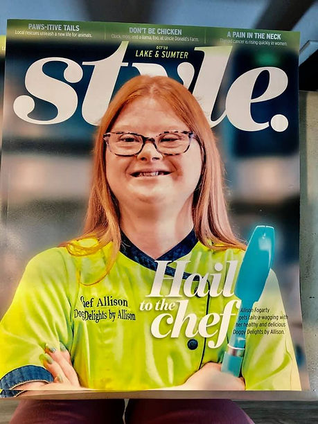 Allison CEO and Dog Treat Chef in STYLE. Magazine