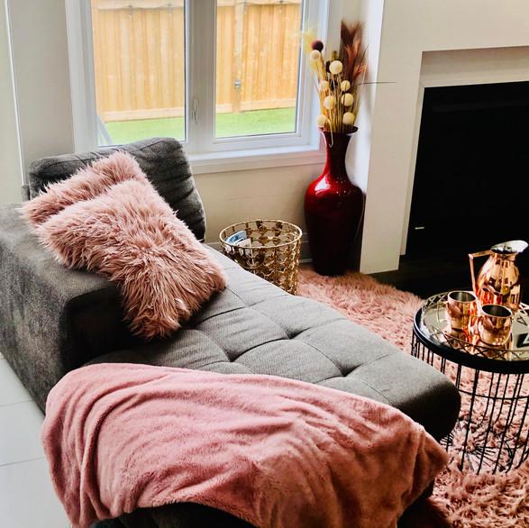 Cozy Fireplace chill zone