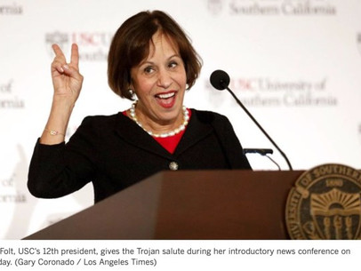 USC President Folt Arrives