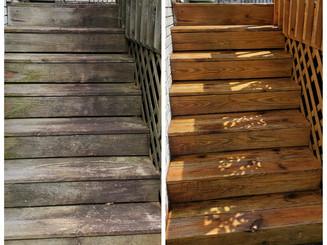 Soft Wash Wooden Porch