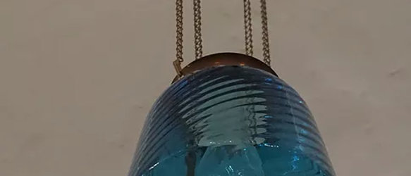 Blue Hall lamp with insert