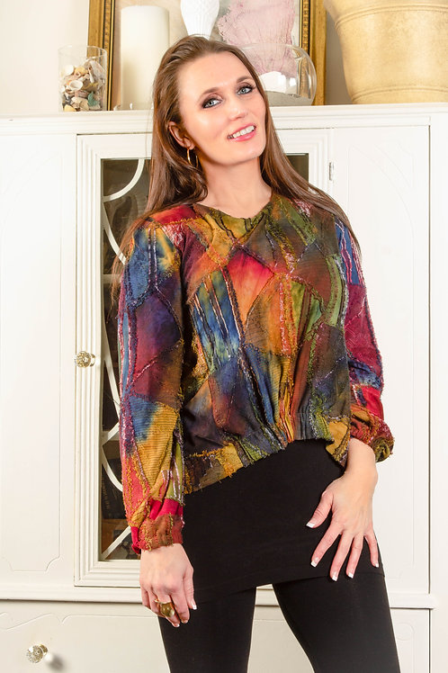 Multicolored Long Sleeve Top