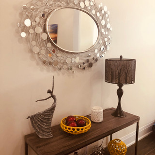 Entry way console table