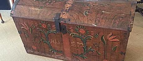 Dutch Wooden Trunk