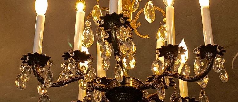 Ten Light Crystal Chandelier