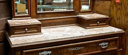 Victorian Walnut Dresser