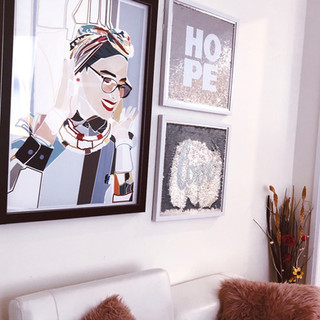 Bold Statement Lady Wall Art