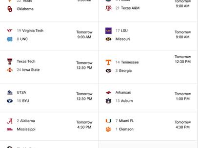 USC Football | Weekend Options