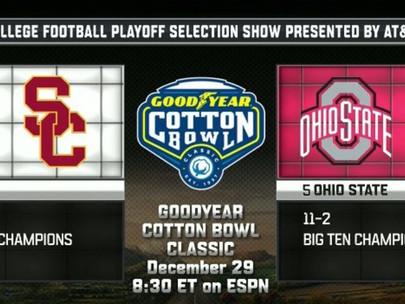 Cotton Bowl USC vs Ohio State | Dec 29th 5:30pm PST