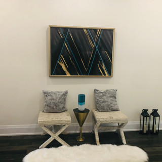 Gold and Teal deco