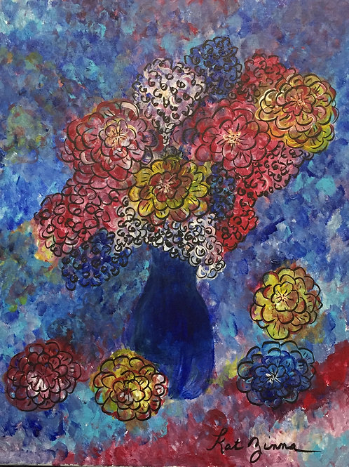Flowers for you on canvas