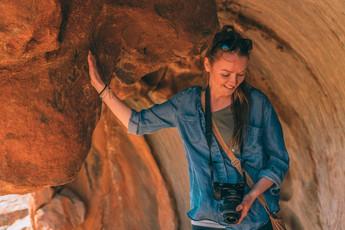Chloe with camera