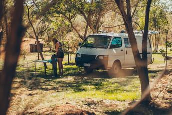 Chloe cooking with a van