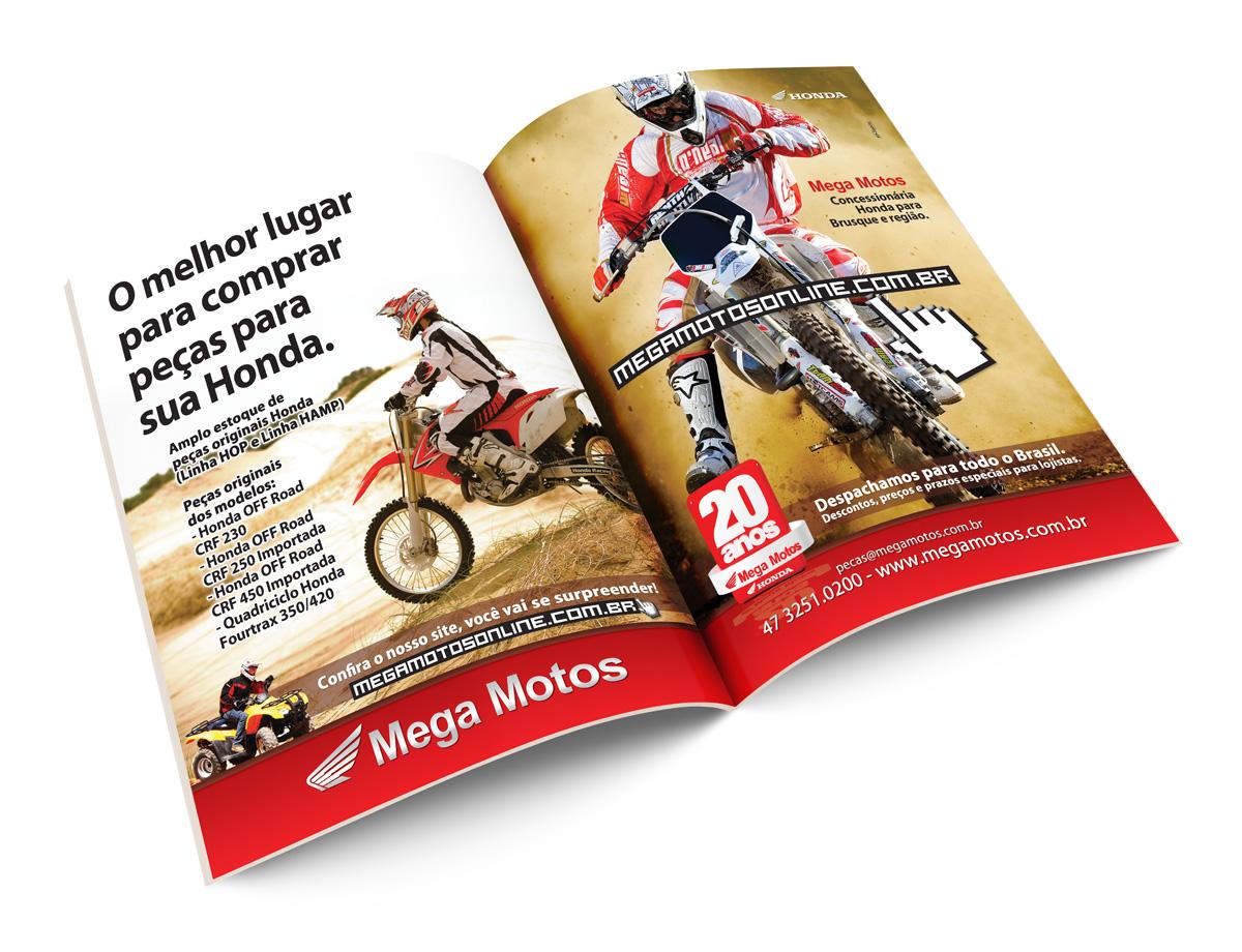 Anúncio em revista - Página Dupla