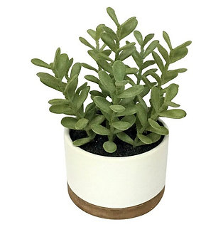 Threshold Artificial Plant in White Pot Medium