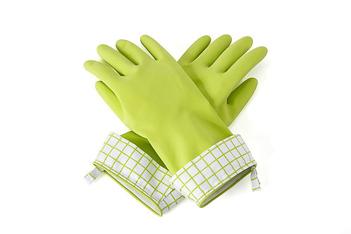 Full Circle Splash Patrol Natural Latex Cleaning & Dish Gloves, Green