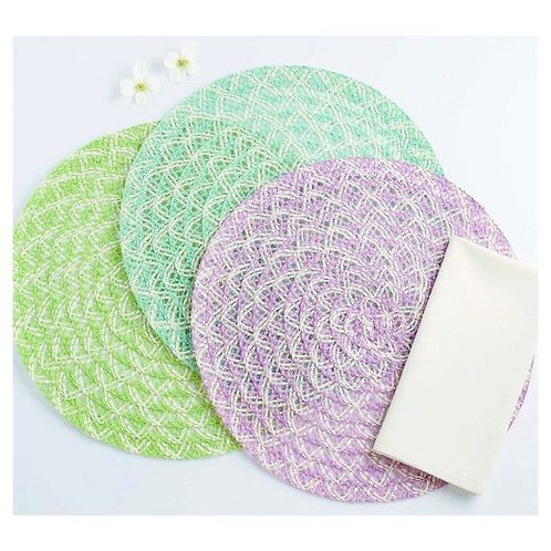 Design Imports 6pc Garden Braided Placemat