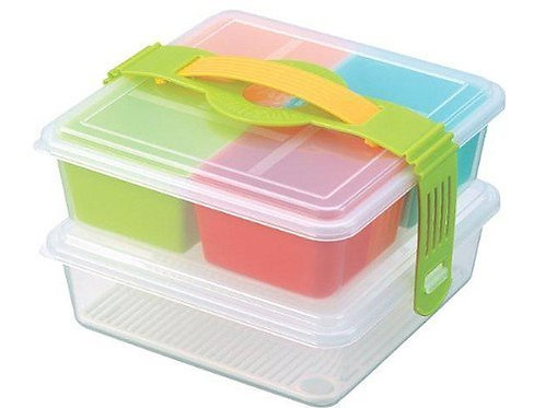 INOMATA 2-Tiers Picnic Lunch Bento Box