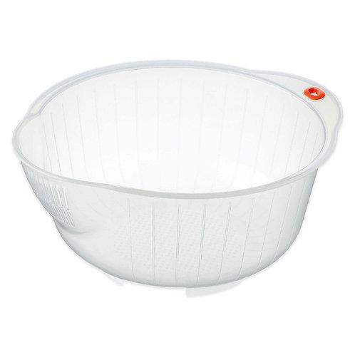 Inomata Japanese Rice Washing Bowl with Strainer 2.5 Qt