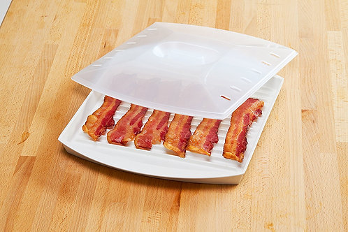 Progressive Prep Solutions Microwave Bacon Grill with Cover