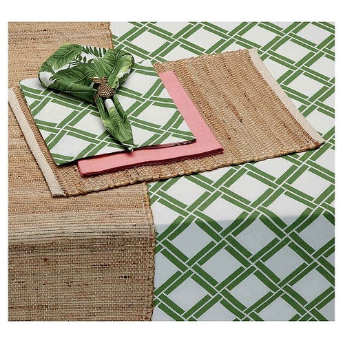 Design Imports Green Bamboo Lattice Printed Tablecloth