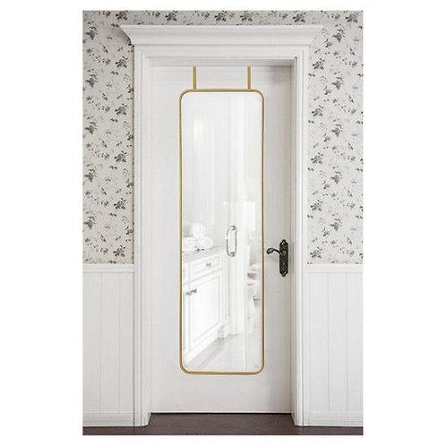 Threshold Over-the-Door Mirror Metal Brass