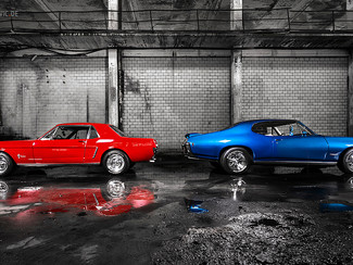 Neues Fotoshooting: 1965 Mustang & 1968 GTO