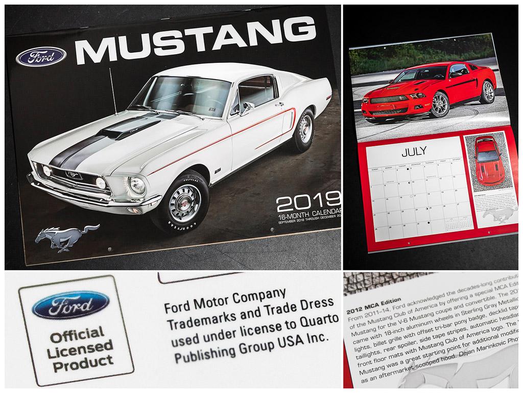 Ford Mustang Kalender 2019