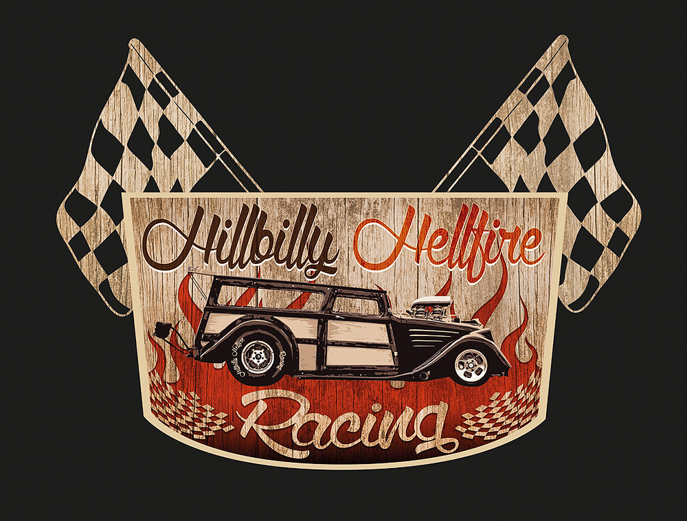 Logo Hillbilly Hellfire Racing