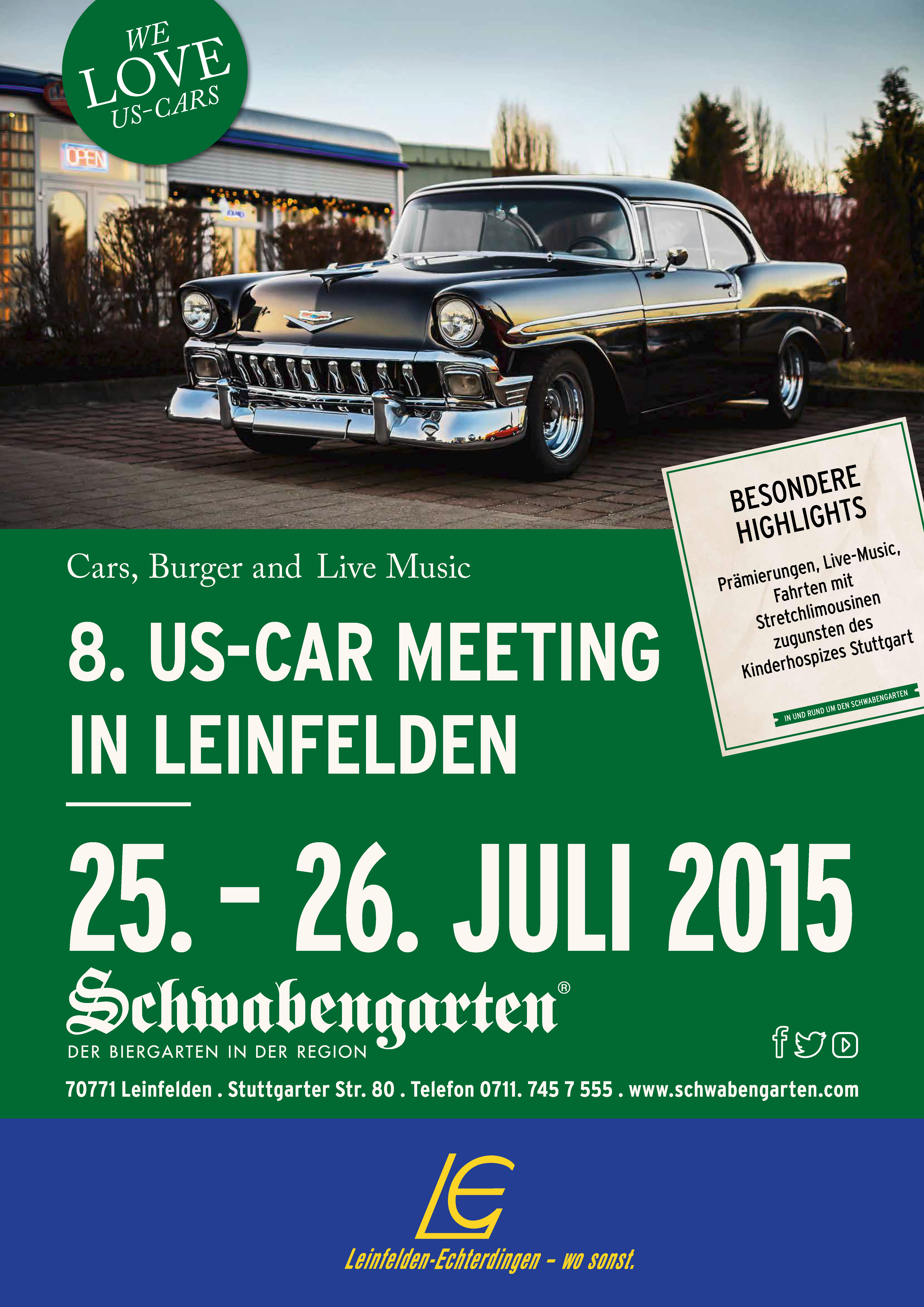 US-Car Meeting Schwabengarten 2015