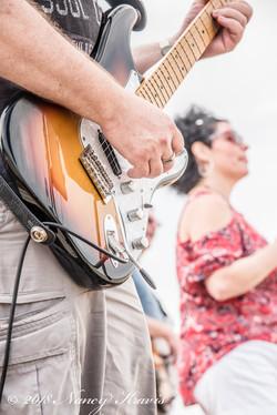 PBB Beach party guitar shot