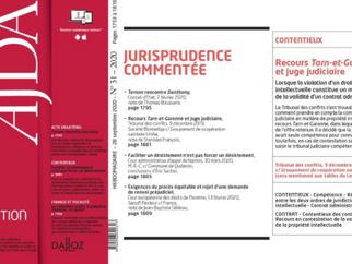 Revue de presse. Publication de Me Stanislas François dans l'AJDA - Dalloz