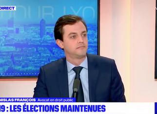 Revue de presse. Intervention de Me Stanislas François sur BFM TV