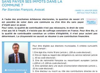 Revue de presse. Droit électoral : peut-on être élu sans payer ses impôts dans la commune ?