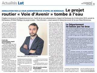 """Revue de presse : la justice barre la route au projet routier """"Voie d'Avenir"""""""