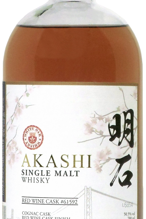 AKASHI Single Malt Red Wine Cask Finish Whisky (with box)