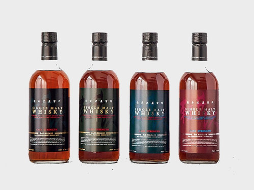 KARUIZAWA Single Malt Whisky Cask Strength (1st - 4th Release) 4 Bottles
