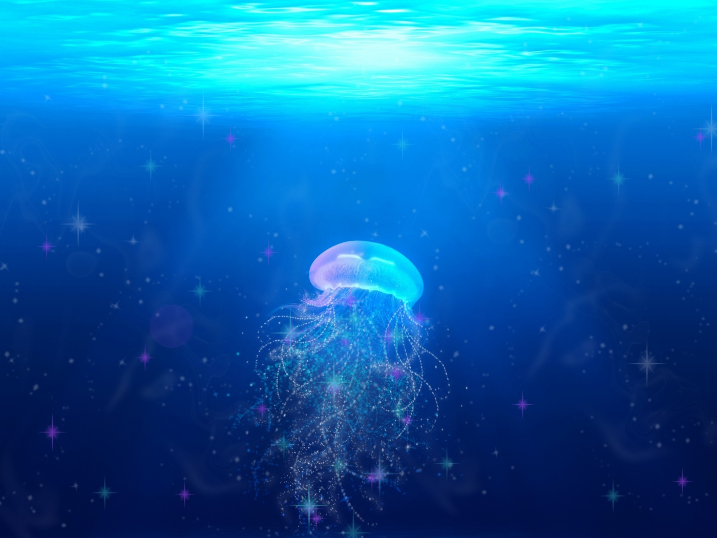 jellyfish_underwater_world_swim_tentacles_115120_1400x1050