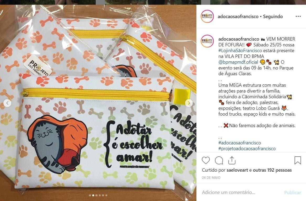 Art in a cute bag, animal shelter