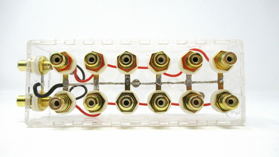 SHCA Clear 1 to 6 RCA Distribution block