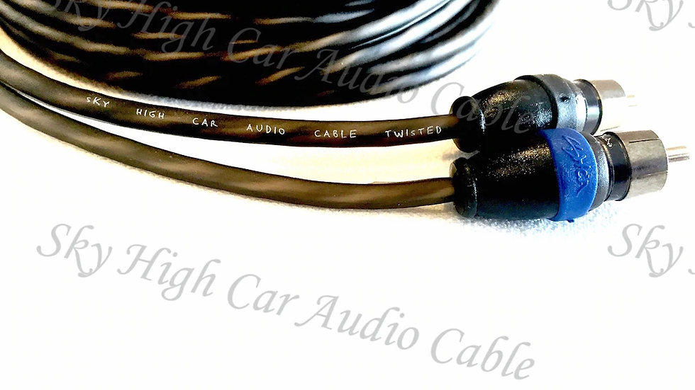 Sky High Car Audio Twisted 2-Channel Twisted RCA 18ft