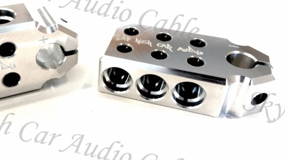 Sky High Car Audio SAE 1/0 6 Input Set Screw Battery Terminal