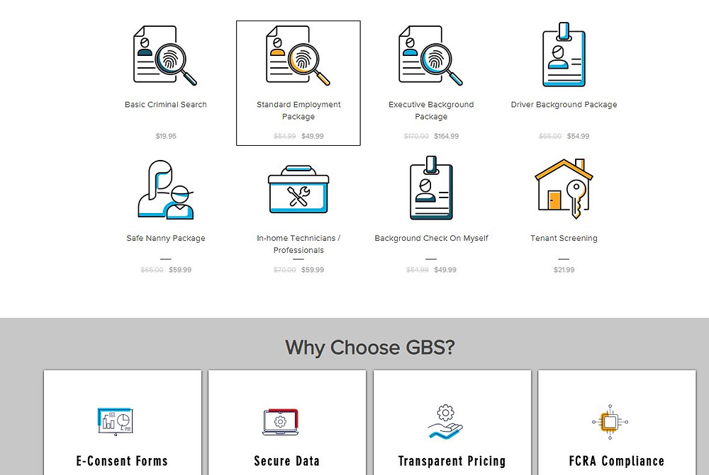 Order background check online platform