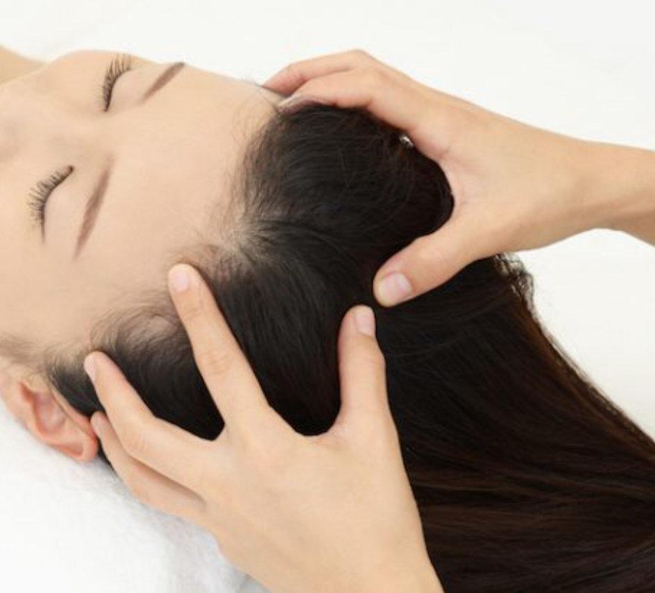 Indian head massage with acusonics