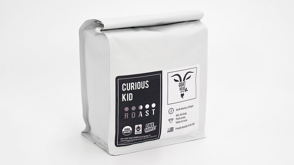 CURIOUS KID Coffee   Medium Roast   Guatemala Peru & Ethiopia