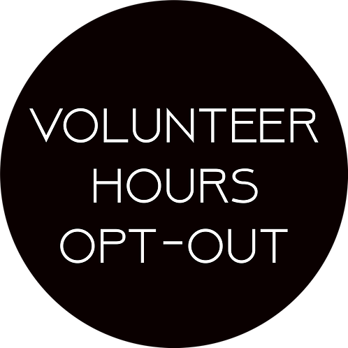 Volunteer Hours Opt-Out