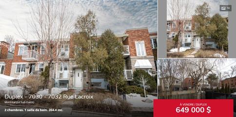 Duplex à Montréal - Courtier immobilier