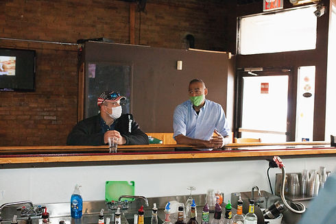 Mickey at bar
