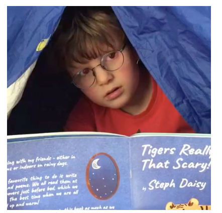Noah and the tent!