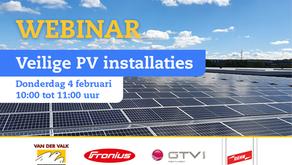 """Gratis Webinar """"Veilige PV installatie"""""""